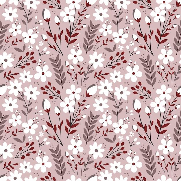 Красочный пыльный цветок бесшовный фон Premium векторы