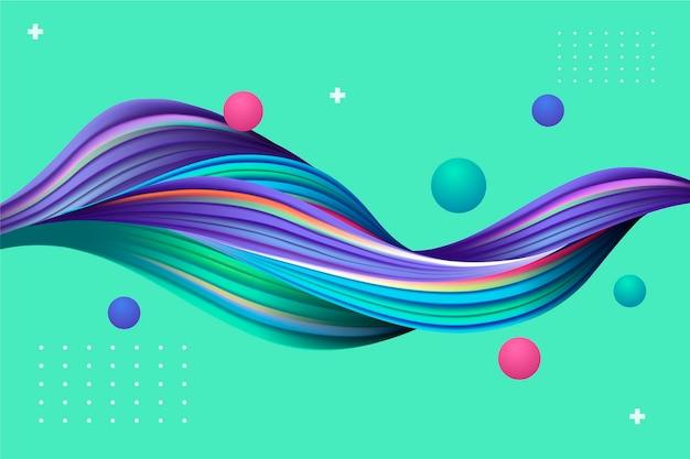 Sfondo colorato flusso dinamico Vettore gratuito