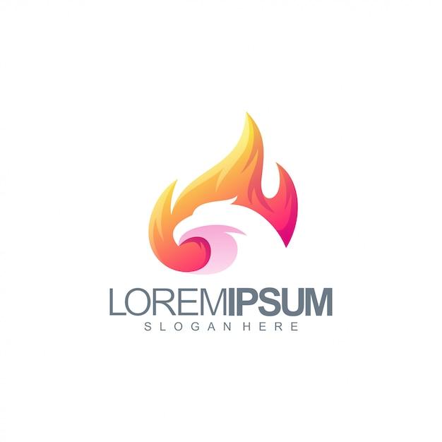 Colorful eagle logo design Premium Vector