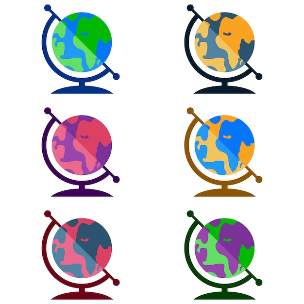 Colorful earth globe world map element icon game asset vector colorful earth globe world map element icon game asset premium vector gumiabroncs Images