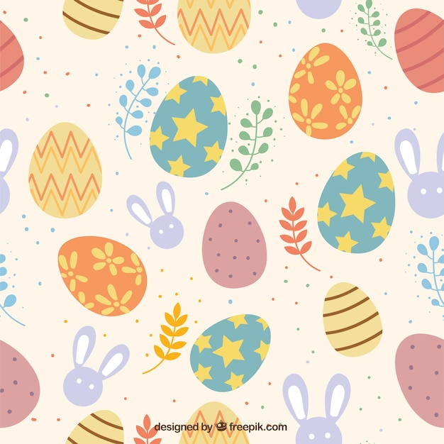 Colorful Easter Day Pattern Free Vector
