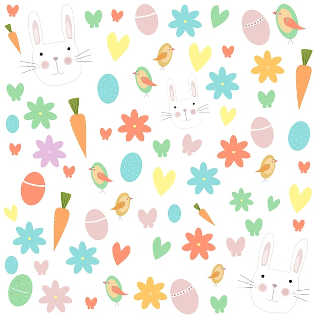 colorful easter pattern vector premium download