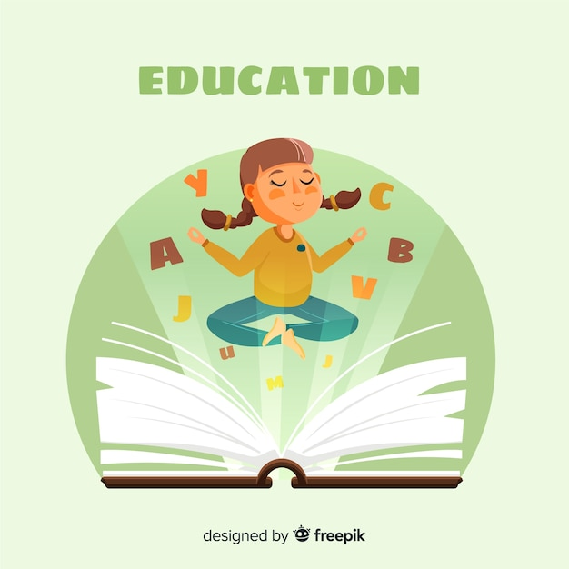 Colorful education concept with flat\ design