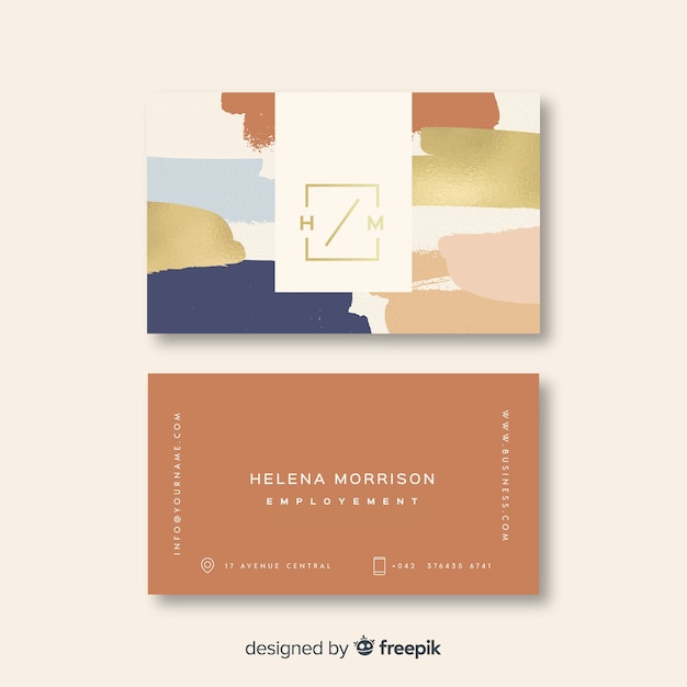 Colorful elegant business card template Free Vector