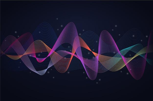 Красочный эквалайзер волна фон концепция Бесплатные векторы
