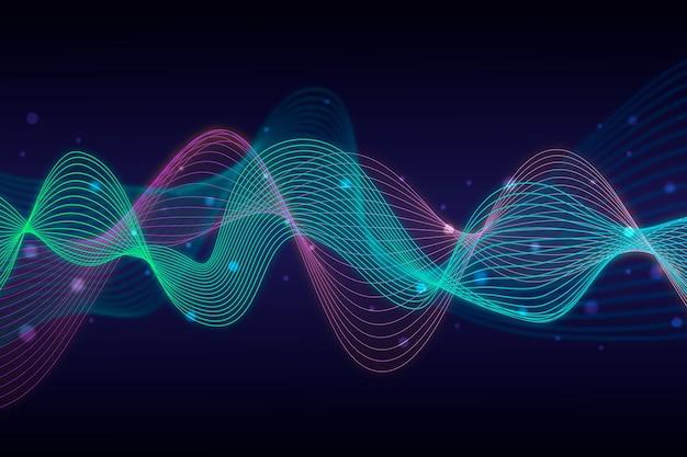 Красочный дизайн фона волны эквалайзера Бесплатные векторы