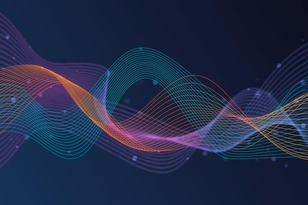 Красочный эквалайзер волна фоновая тема Бесплатные векторы