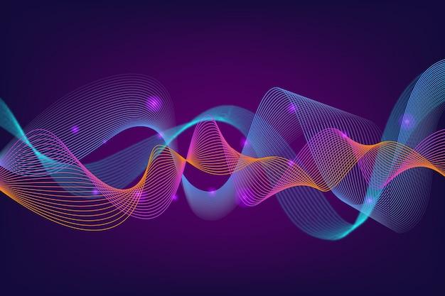 Красочный эквалайзер волны фон Бесплатные векторы