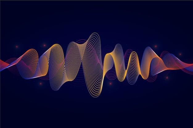 Colorful equalizer wave background Free Vector