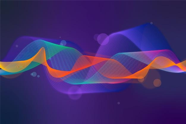 Красочная заставка эквалайзера Бесплатные векторы
