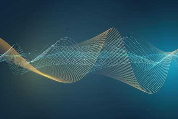 Красочная волна обои эквалайзер концепция Premium векторы