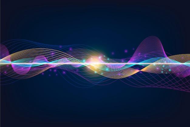 Красочная тема обоев волны эквалайзера Бесплатные векторы