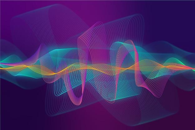 Красочные эквалайзер волны обои Бесплатные векторы