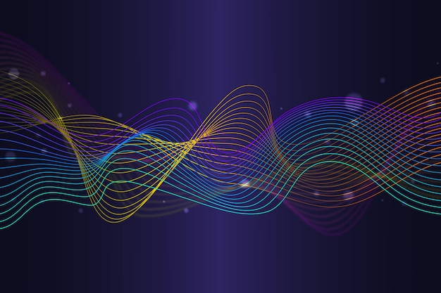 Free Vector Colorful Equalizer Wave Wallpaper