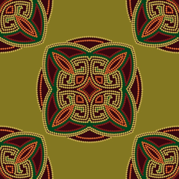 Colorful ethnic seamless pattern background Premium Vector