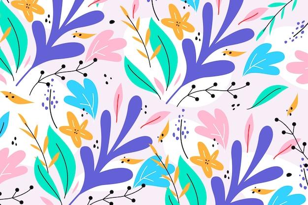 Sfondo colorato fiori esotici Vettore gratuito