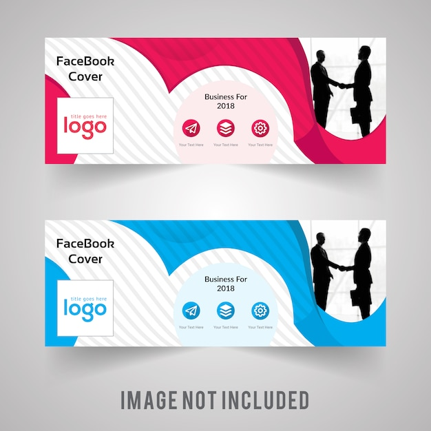 Colorful Facebook Cover With Pattern Premium Vector