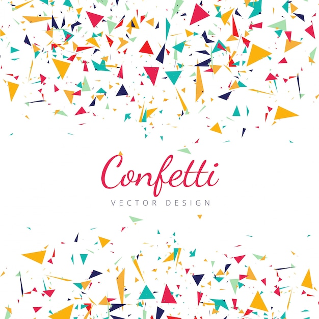Colorful falling confetti background vector Free Vector