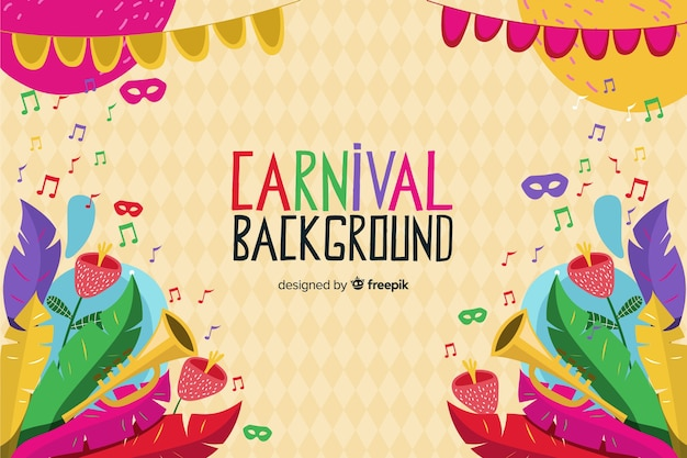 Colorful feathers carnival background Free Vector