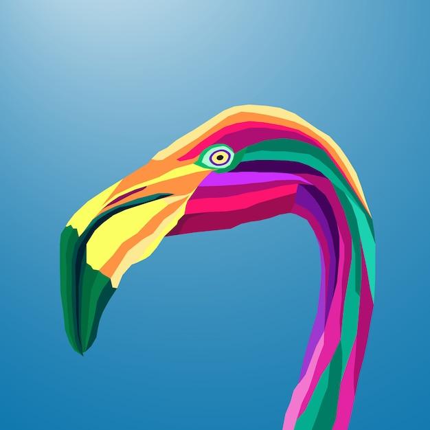 Colorful flamingo Premium Vector