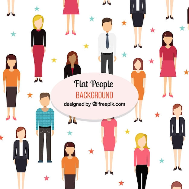 Colorful flat people background