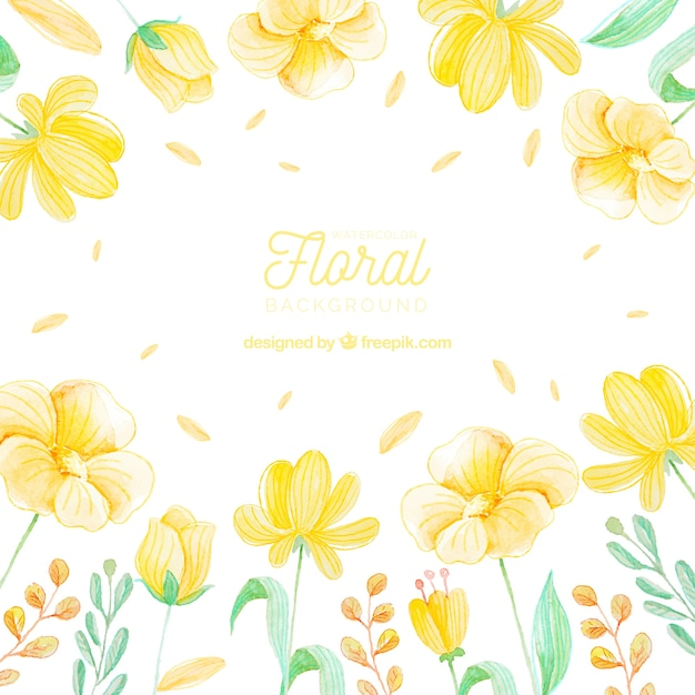 free vector colorful floral background in watercolor style vector colorful floral background