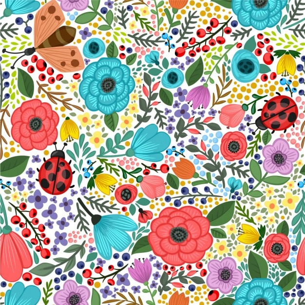 colorful floral background patterns - photo #20