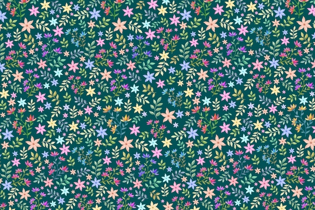 Colorful floral background Free Vector