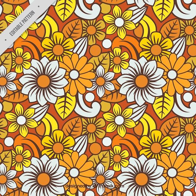 Colorful Floral Batik Pattern Vector