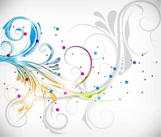 Colorful floral design vector illustration Free Vector