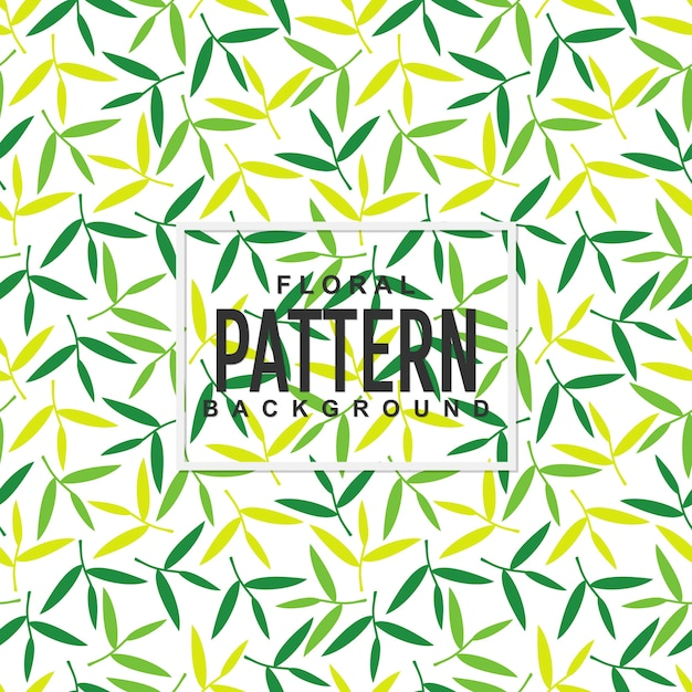 Colorful floral leaves seamless pattern background Premium Vector