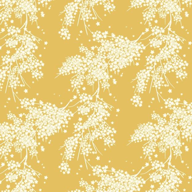 화려한 꽃 패턴 프리미엄 벡터
