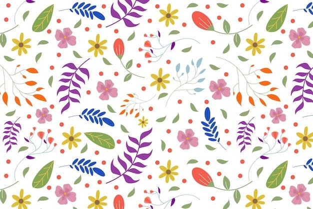 Красочный цветочный узор Бесплатные векторы