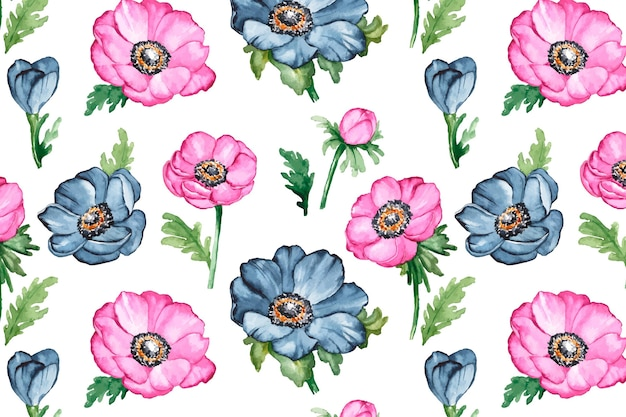 Colorful floral pattern Free Vector