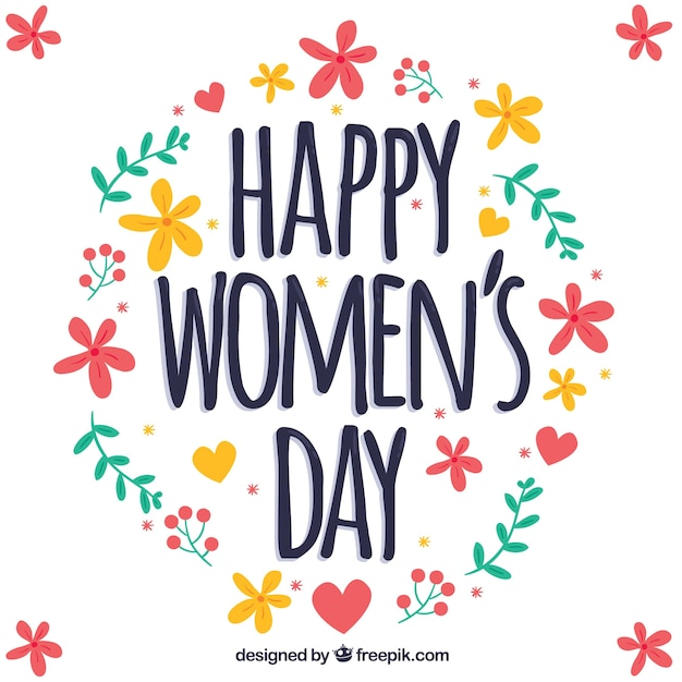 Colorful floral womans day design