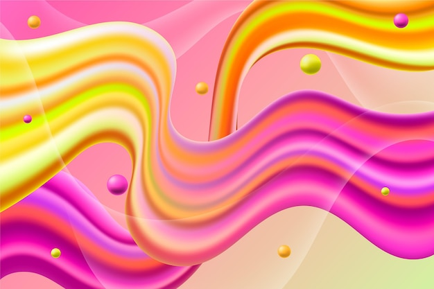 Colorful flow background Free Vector