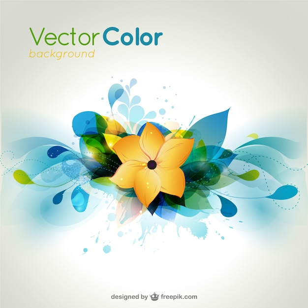 Colorful flower background    vector Free Vector