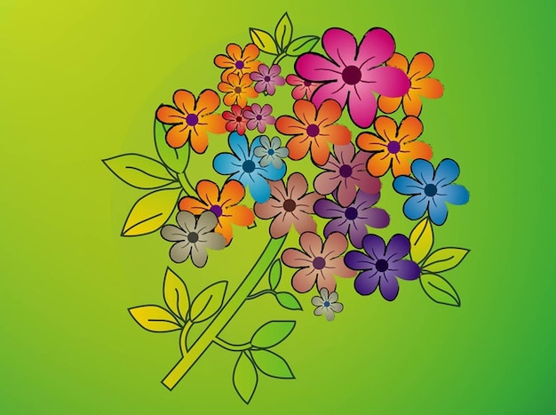 Colorful flower bouquet vector