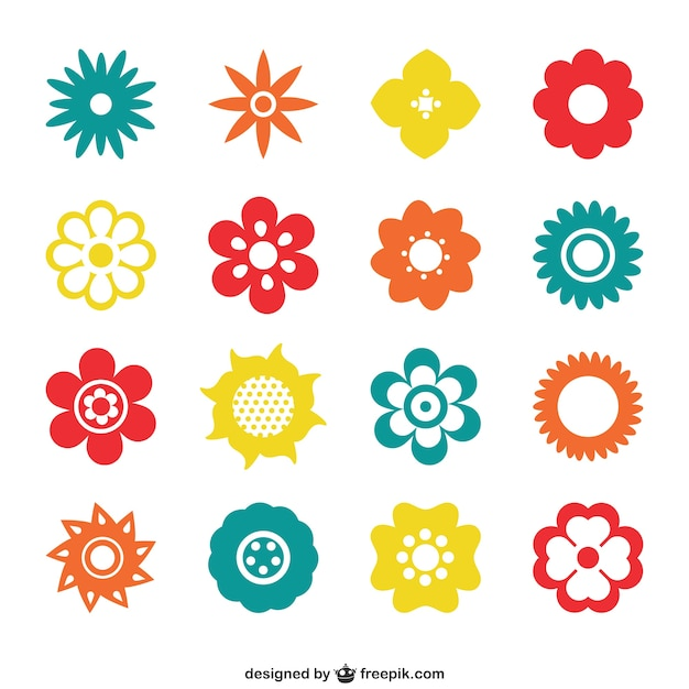 Colorful Flower Icons Stock Images Page Everypixel