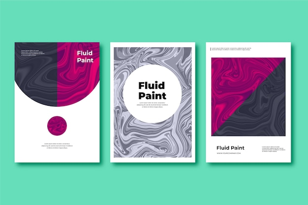 Colorful fluid effect poster Free Vector