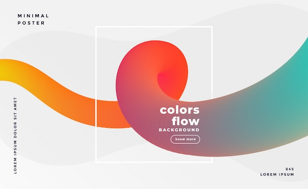 Colorful fluid loop banner background Free Vector