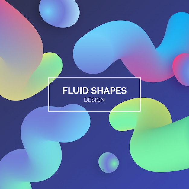 Colorful fluid shapes background Vector   Free Download