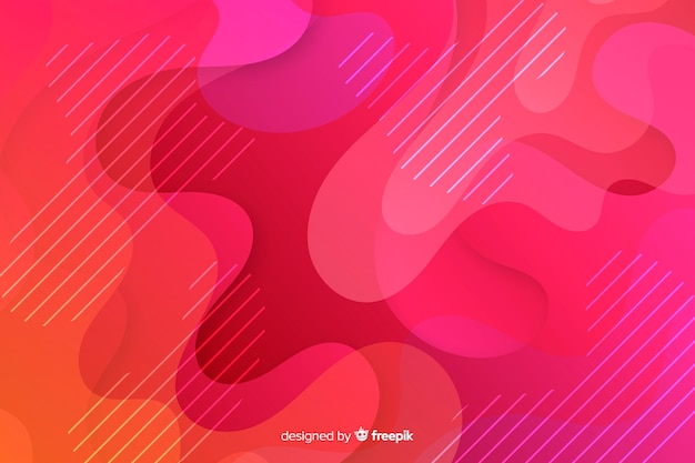 Colorful fluid shapes background Free Vector