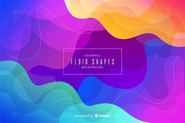 Colorful fluid shapes template Free Vector