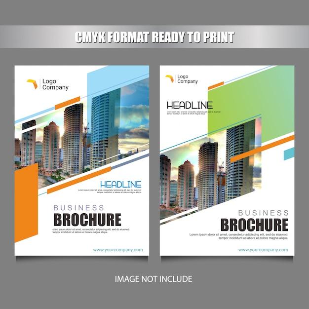Colorful flyer cover template design Premium Vector
