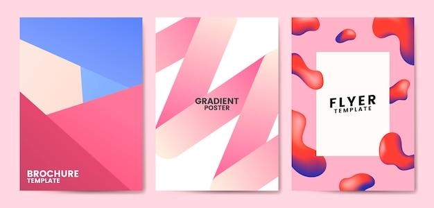 Colorful flyer template design illustration Free Vector