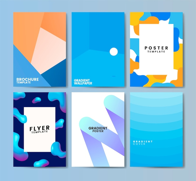 Colorful flyer template design illustration Free Vector