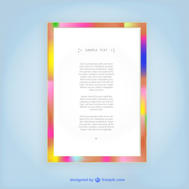 Colorful frame Free Vector