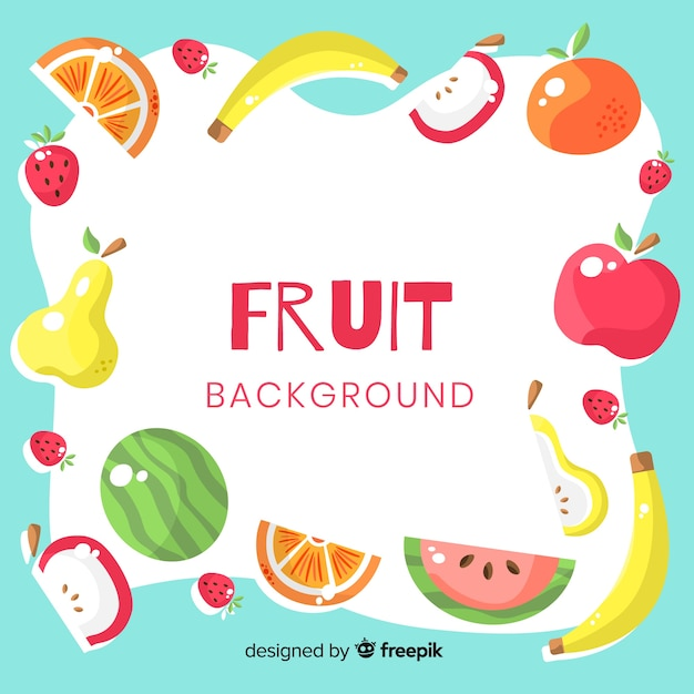 Colorful fruit background Free Vector