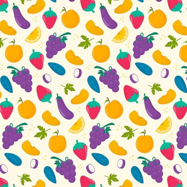 Красочный фруктовый образец Premium векторы